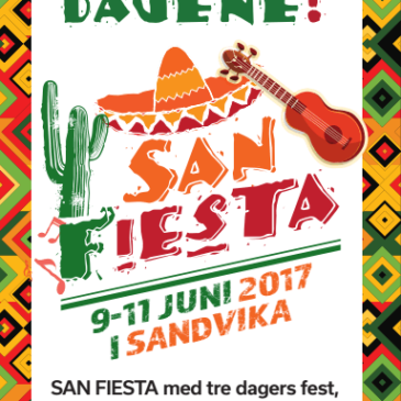 Hei, verden – SAN Fiesta 9.-11. juni 2017